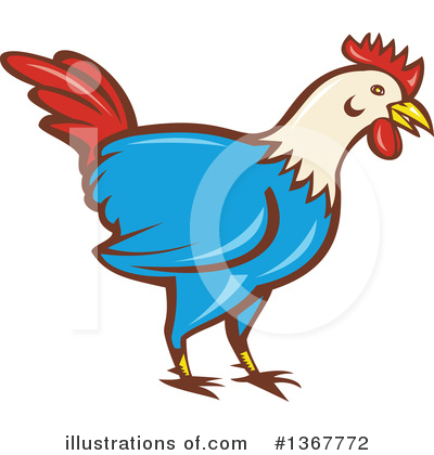 Rooster Clipart #1367772 by patrimonio