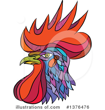 Rooster Clipart #1376476 by patrimonio