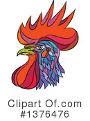 Royalty-Free (RF) Rooster Clipart Illustration #1376476