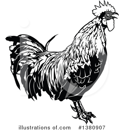 Rooster Clipart #1380907 by dero
