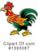 Royalty-Free (RF) Rooster Clipart Illustration #1393087