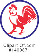 Royalty-Free (RF) Rooster Clipart Illustration #1400871