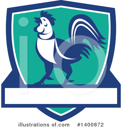 Royalty-Free (RF) Rooster Clipart Illustration by patrimonio - Stock Sample #1400872