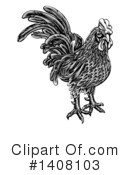 Royalty-Free (RF) Rooster Clipart Illustration #1408103