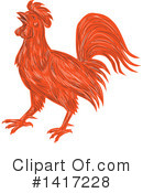Rooster Clipart #1417228 by patrimonio