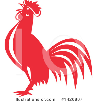 Rooster Clipart #1426867 by patrimonio