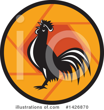 Royalty-Free (RF) Rooster Clipart Illustration by patrimonio - Stock Sample #1426870