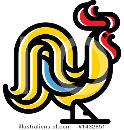 Rooster Clipart #1432851 by elena