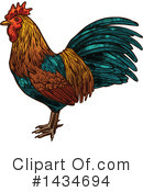 Rooster Clipart #1434694 by Vector Tradition SM