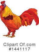 Royalty-Free (RF) Rooster Clipart Illustration #1441117