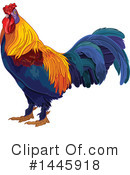 Royalty-Free (RF) Rooster Clipart Illustration #1445918