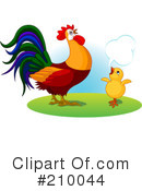 Royalty-Free (RF) Rooster Clipart Illustration #210044