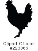Royalty-Free (RF) Rooster Clipart Illustration #223866