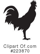 Royalty-Free (RF) Rooster Clipart Illustration #223870