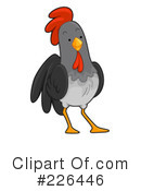Royalty-Free (RF) Rooster Clipart Illustration #226446