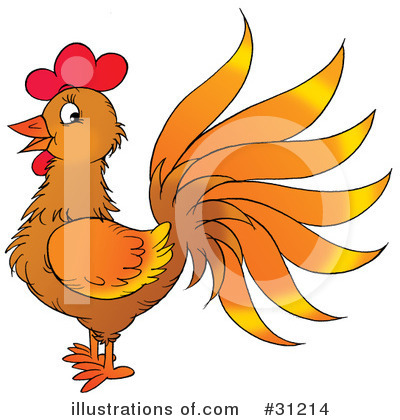 Rooster Clipart #31214 by Alex Bannykh