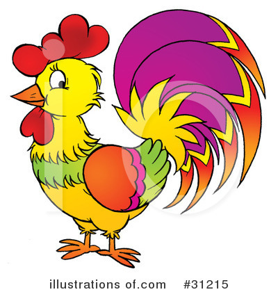 Rooster Clipart #31215 by Alex Bannykh