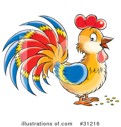 Rooster Clipart #31216 by Alex Bannykh