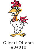 Royalty-Free (RF) Rooster Clipart Illustration #34810