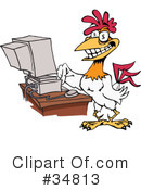 Royalty-Free (RF) Rooster Clipart Illustration #34813
