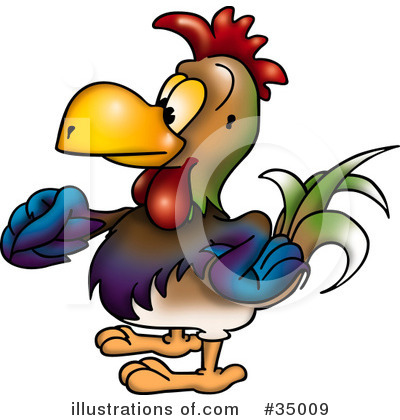 Royalty-Free (RF) Rooster Clipart Illustration by dero - Stock Sample #35009