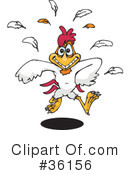 Royalty-Free (RF) Rooster Clipart Illustration #36156