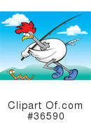 Royalty-Free (RF) Rooster Clipart Illustration #36590