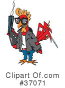 Royalty-Free (RF) Rooster Clipart Illustration #37071
