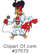 Royalty-Free (RF) Rooster Clipart Illustration #37073