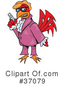 Royalty-Free (RF) Rooster Clipart Illustration #37079