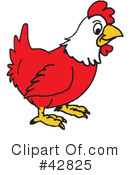 Royalty-Free (RF) Rooster Clipart Illustration #42825