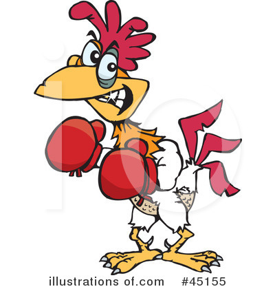 Royalty-Free (RF) Rooster Clipart Illustration by Dennis Holmes Designs - Stock Sample #45155