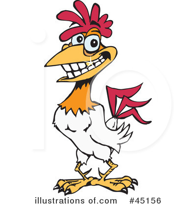 Rooster Clipart #45156 by Dennis Holmes Designs