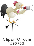 Royalty-Free (RF) Rooster Clipart Illustration #95763