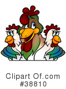 Royalty-Free (RF) Roosters Clipart Illustration #38810