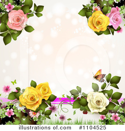 Rose Background Clipart #1104525 by merlinul