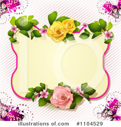 Royalty-Free (RF) Rose Background Clipart Illustration by merlinul - Stock Sample #1104529