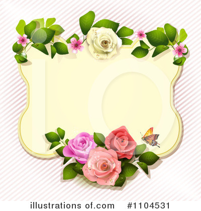 Rose Background Clipart #1104531 by merlinul