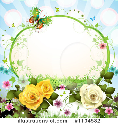 Rose Background Clipart #1104532 by merlinul