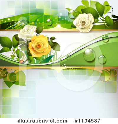 Rose Background Clipart #1104537 by merlinul