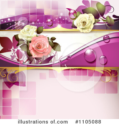 Rose Background Clipart #1105088 by merlinul