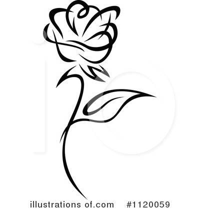 Rose Clipart #1120059 by Vector Tradition SM