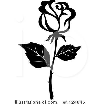 Rose Clipart #1124845 by Vector Tradition SM