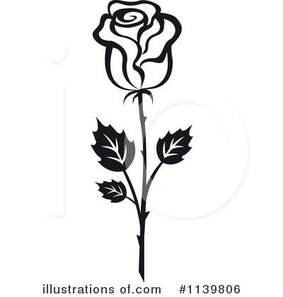 Rose Clipart #1139806 by Vector Tradition SM