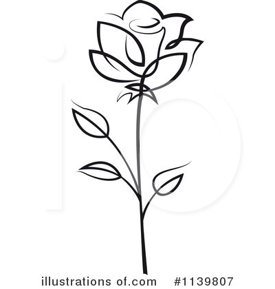 Rose Clipart #1139807 by Vector Tradition SM