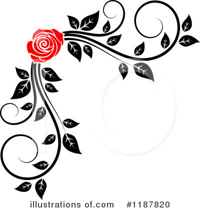 Rose Clipart #1187820 by Vector Tradition SM
