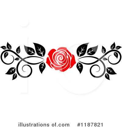 Rose Clipart #1187821 by Vector Tradition SM