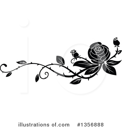 Rose Clipart #1356888 by Vector Tradition SM