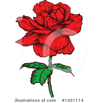 Rose Clipart #1421114 by Vector Tradition SM
