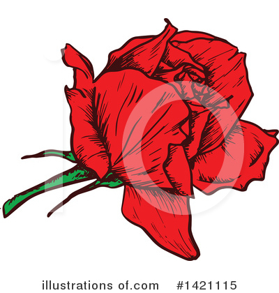 Rose Clipart #1421115 by Vector Tradition SM